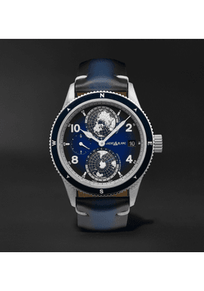 Montblanc - 1858 Geosphere Automatic 42mm Titanium, Ceramic and Leather Watch, Ref. No. 125565 - Men - Blue