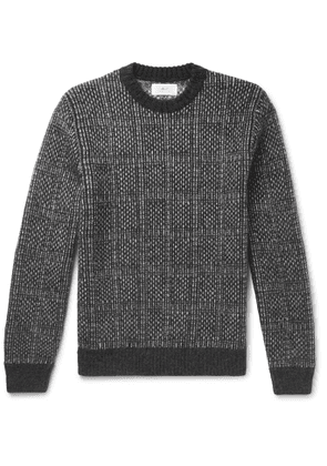 Mr P. - Checked Knitted Sweater - Men - Gray