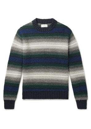 Mr P. - Striped Knitted Sweater - Men - Blue