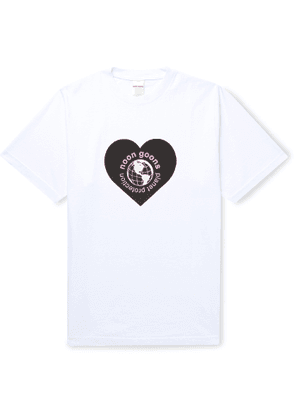 Noon Goons - Planet Protection Printed Garment-Dyed Cotton-Jersey T-Shirt - Men - White