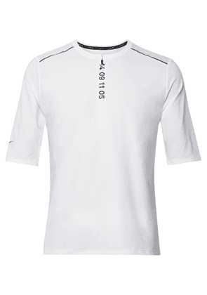 Nike Running - Tech Pack Printed Stretch-Jersey and Mesh Half-Zip Top - Men - White
