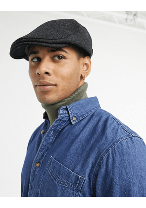 Ted Baker wool felt flat cap in charcoal-Grey