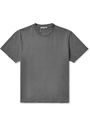 Our Legacy - Distressed Cotton-Jersey T-Shirt - Men - Gray