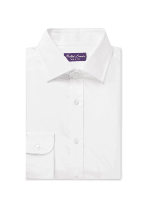 Ralph Lauren Purple Label - Cotton and Silk-Blend Shirt - Men - White