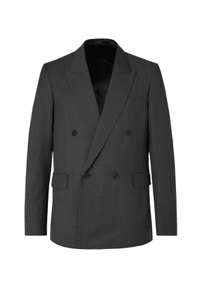 THE ROW - Dark-Grey Colin Double-Breasted Mélange Wool Suit Jacket - Men - Gray