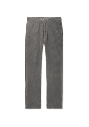 THE ROW - Grey Walker Cotton and Cashmere-Blend Corduroy Trousers - Men - Gray