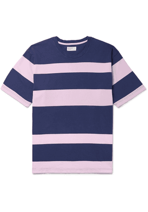 Universal Works - Striped Cotton-Jersey T-Shirt - Men - Pink