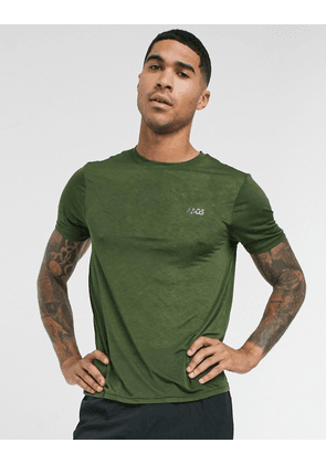 ASOS 4505 training t-shirt in sheer slub jersey with quick dry-Green