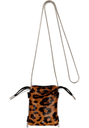 Alexander Wang Leopard-print Calf Hair Phone Bag Woman Animal print Size --