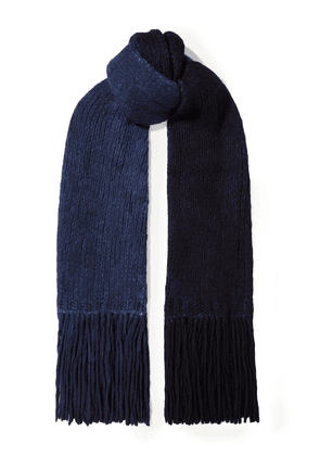 Gabriela Hearst Fringed Tie-dyed Cashmere Scarf Woman Blue Size --