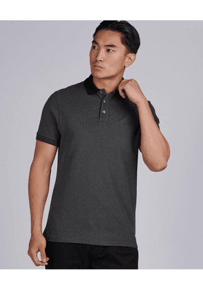Barbour International Contrast Collar Polo Colour: Black
