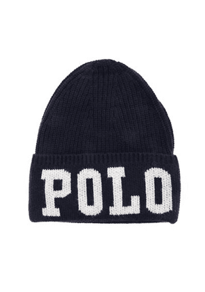 Ralph Lauren Kids Polo Logo Beanie Hat Colour: NAVY