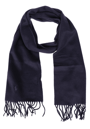 RALPH LAUREN MEN'S 710719823001 BLUE CASHMERE SCARF