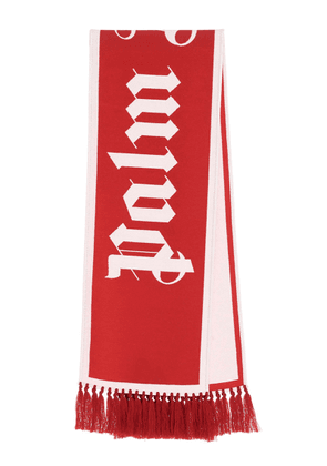 PALM ANGELS MEN'S PMMA011E20KNI0012501 RED WOOL SCARF