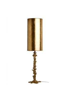 Pols Potten Drip Gold Lamp With Gold Leaf Shade