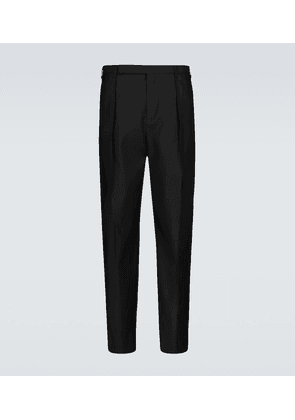 Wool and silk-blend tailored pants