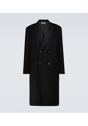 Whale mohair and wool coat