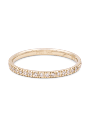 14kt yellow gold eternity ring with diamonds