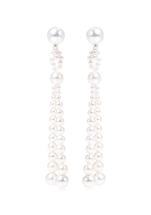 Opera 14kt gold earrings with pearls