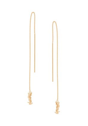 Saint Laurent monogram drop earrings - GOLD