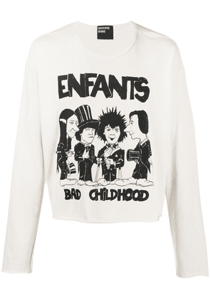 Enfants Riches Déprimés comic logo-print round neck sweatshirt - Neutrals