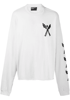 Enfants Riches Déprimés winged man-print oversized sweatshirt - Neutrals