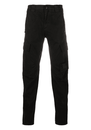 CP COMPANY cargo-pocket straight leg trousers - Black