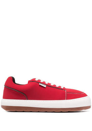 Sunnei logo patch sneakers - Red