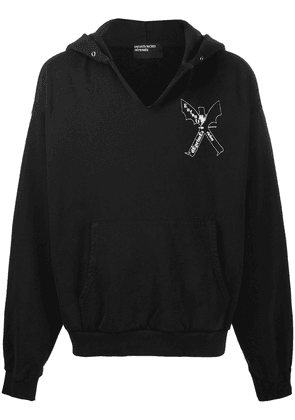 Enfants Riches Déprimés winged man hooded sweatshirt - Black