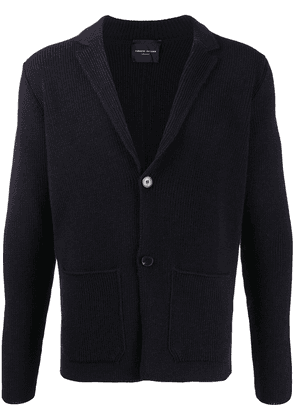 Roberto Collina ribbed knit button-front cardigan - Blue