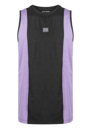 Acne Studios Face patch panelled tank top - Grey