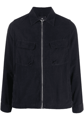 PS Paul Smith corduroy zip-up shirt jacket - Blue