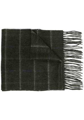 Barbour plaid check scarf - Green