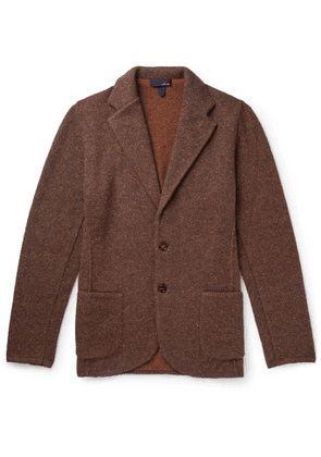 Lardini - Unstructured Donegal Knitted Blazer - Men - Brown