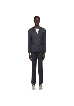 Z Zegna Navy Double-Breasted Suit