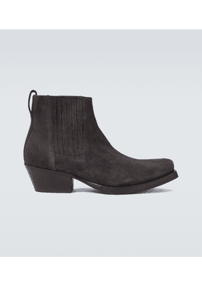 Suede Cuban boots