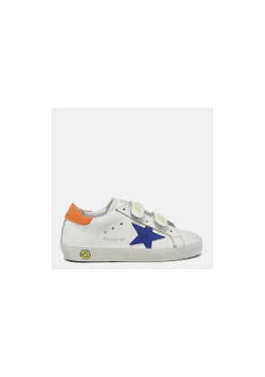 Golden Goose Deluxe Brand Toddlers' Old School Trainers - White/Bluette/Orange - UK 3 Infant