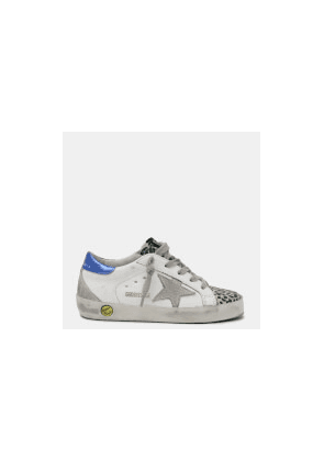 Golden Goose Deluxe Brand Kids' Superstar Trainers - White/Silver/Multi Leopard - UK 10 Kids