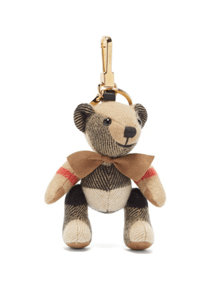 Burberry - Thomas Check-cashmere Key Ring - Womens - Beige Multi