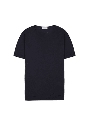 John Smedley Belden Navy Fine-knit Cotton T-shirt