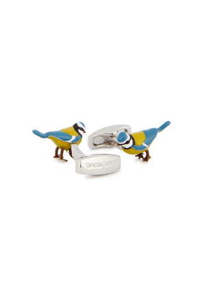 Simon Carter Silver-tone Bird Cufflinks