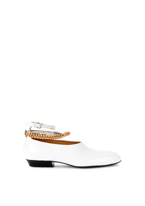 Jil Sander White Leather Flats