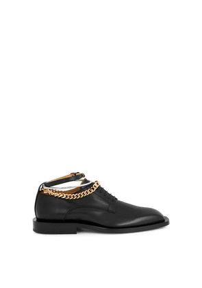 Jil Sander Black Leather Derby Shoes