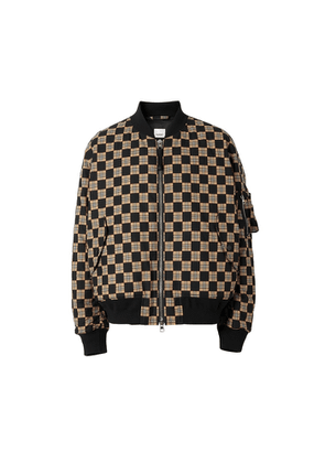 Burberry Chequer Cotton Bomber Jacket