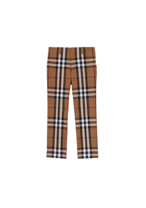 Burberry House Check Wool Tailored Trousers