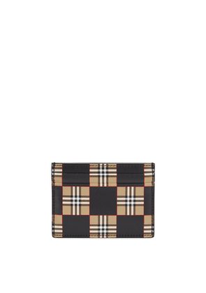 Burberry Sandon Checked Leather Card Holder