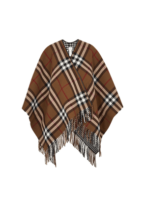 Burberry Checked Reversible Wool Cape