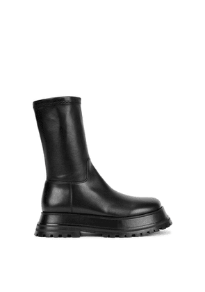 Burberry Hurr Black Leather Ankle Boots