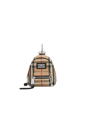 Burberry Vintage Check Backpack Charm