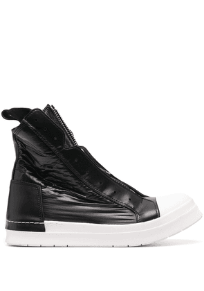 Cinzia Araia leather high-top sneakers - Black